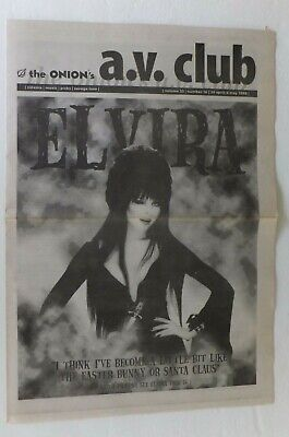 Orig Vtg 1998 Horror Host ELVIRA Mistress Dark 1ST COORS Scandal News Article!