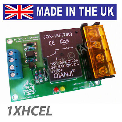IACS 1 Channel 25A 30A 240V Relay Board SPDT Arduino Raspberry Pi 1XHCEL Optical