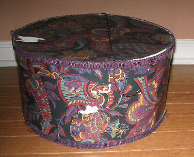 Vintage Hat Box Wig Box 13 x 7 for Craft Project & Repair Restoration Needed