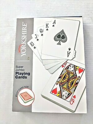 Playing Cards 8 Inch x 11 Inch Super Jumbo Giant Game Playing Card Deck