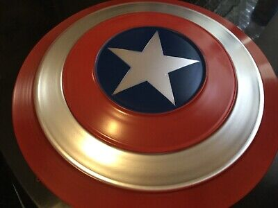Avengers Captain America Full Metal Shield Iron Replica Cosplay Props Bar Battle