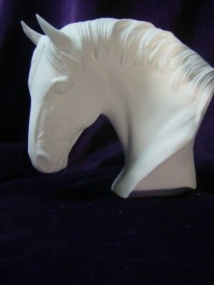 Draft Horse Bust, Ceramic Bisque, Ready to Paint