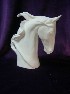 Saddlebred Horse Bust, Ceramic Bisque, Ready to Paint