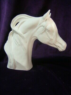 Arabian Horse Bust, Ceramic Bisque, Ready to Paint