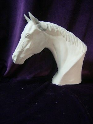Quarter Horse Bust, Ceramic Bisque, Ready to Paint
