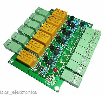 IACS 6 Channel 3A Relay Board Power Distribution Optical TTL 6CH Raspberry Pi