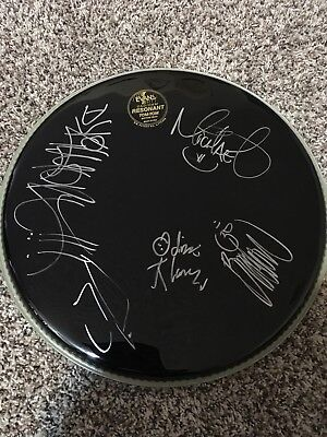 Incubus Signed Autographed Drumhead Entire Band x5
