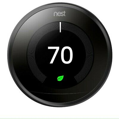 Nest Learning Programmable Thermostat - 3rd Generation T3007ES - Stainless Steel