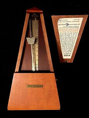 SETH Thomas Solid Wood Piano Metronome vtg obelisk wind up 7 clock de maelzel
