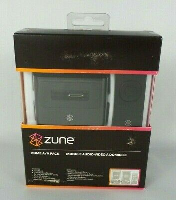 Genuine Microsoft ZUNE Home A/V Pack Dock & remote New In box Sealed NOS
