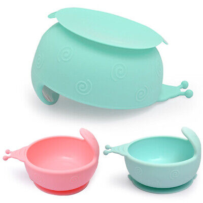 Safty Arc Suction Cup Base Lightweight Baby Bowl Anti-fall Non-toxic Snail Shape