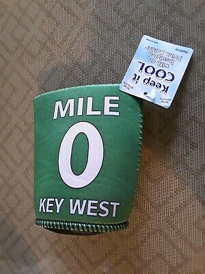 Key West Mile 0 Beer/Drink Koozie/Coozie BRAND NEW NEVER USED!!! 7-5