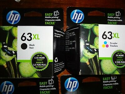 Set Of 2 New Genuine Hp 63Xl Black & 63Xl Color Ink Envy 4511 4516 4520 4524
