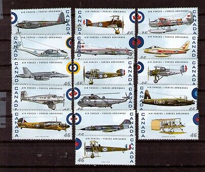 Sc-1808 A To P Airplanes Mint Nh Set  Cv  20.00+  J-459