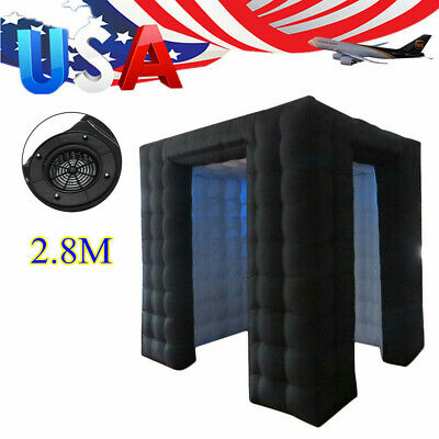 USA Inflatable LED Light Photo Booth Air Tent Wedding Party Christmas 2.8M + RC
