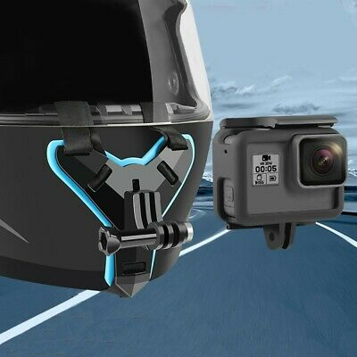 SILICONE MOTORCYCLE HELMET Chin Mount Holder for GoPro Hero