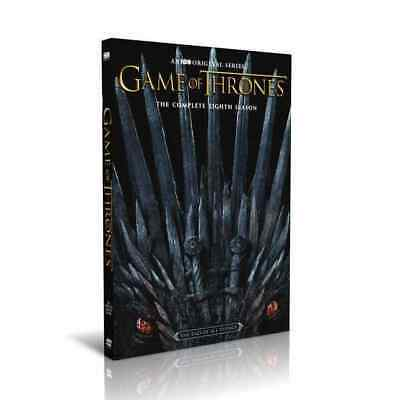 Game 0F of Thrones:The Complete 8 Season (DVD, 2019, 3-Disc Set) Brand New