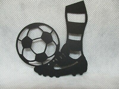 8 Soccer Ball Kick Silhouette Die Cuts.......cardmaking.....scrapbooking