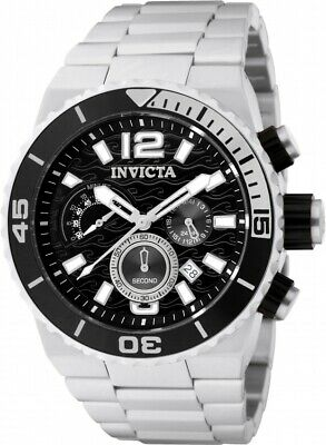 Invicta Men's Pro Diver Chronograph Silver Tone Stainless Steel Watch 48mm 1341