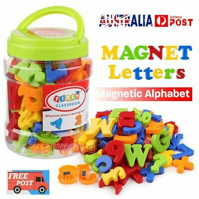 78PCS Magnetic Numbers Letters Alphabet Learning Toy Fridge Magnets Xmas gift BO