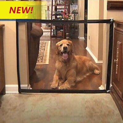Safety Enclosure Dog Gate Barrier Mesh Safe Pet Anywhere Magic Guard&Install BO