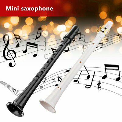Little Sax Mini Alto Saxophone Simple Key C Pocket Music Tool ABS + Carry Bag BO