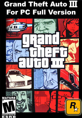 Grand Theft Auto III For PC Full Version Download Game & Fast Delivery