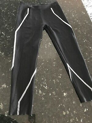 Lounge The Label Black And White Leggings Size L Comfortable Elastic Waist