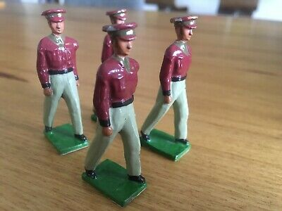 Britain's metal toy soldiers x4 plus  x1 Metal Indian Unknown Manufacturer