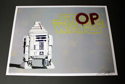 original star wars painting street art dismaland banksy kaws pop graffiti r2d2