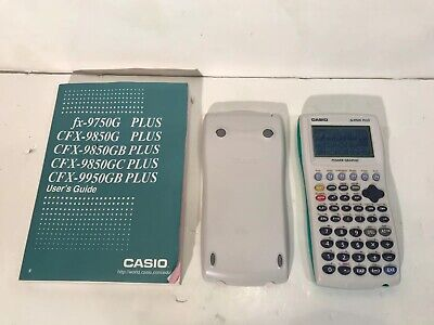 Casio FX-9750G Plus Graphing Calculator with Manual Users Guide