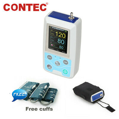 CE FDA ABPM50 Ambulatory Blood Pressure Monitor 24h NIBP 3 Cuffs Adult/Pediatric