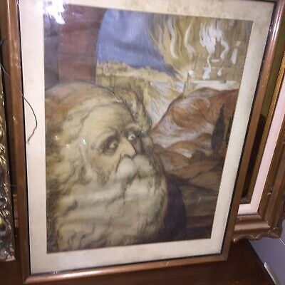 1937 Painting on Paper Noah Signed; LBAuthentic Dated 1937 NYC 12 month return