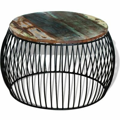 New Solid Reclaimed Wood Round Coffee Side End Couch Table Nightstand