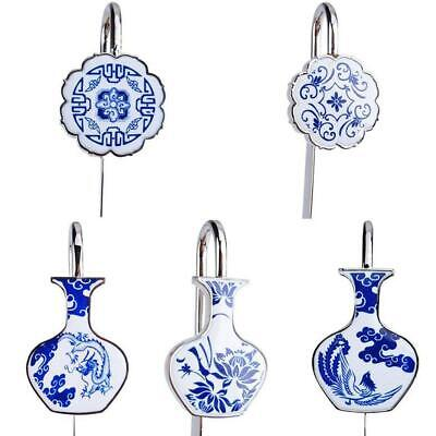 1pc Bookmark Blue and white porcelain Chinese Style Exquisite Vintage Metal