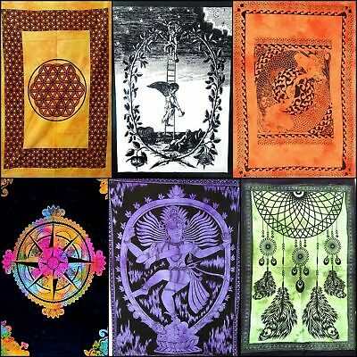 Tapestry Small Poster Cotton Hippie Throw Bohemian Yoga Mat Collage Wall Hanging