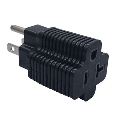 Household electrical adapter NEMA 5-15P male to NEMA 5-20R female adapter_15-~PL