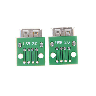 2pcs Hot Female Type A USB For 2.54MM PCB Board DIP Adapter~PL