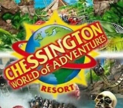X2 Chessington World Of Adventures Etickets.Valid For Thursday 17th October 2019