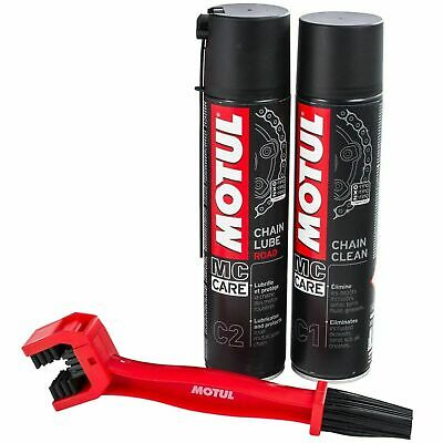 Motul Chain Care Cleaning / Cleaner Lube Kit For Motorbike / Motorcycle / Bike
