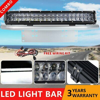 20inch Cree LED Light Bar Spot Flood Offroad Driving Work Plate Frame UTE+Wiring
