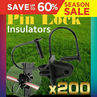 Giantz 200X Electric Fence Insulators Insulator Pinlock Energiser Insulation