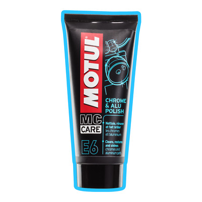 NEW Motul Motorcycle E6 CHROME ALUMINIUM POLISH Cleaner SHINES! 100ml 450142