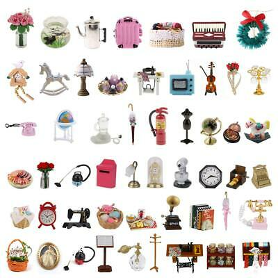 Various 1:12 Scale Dollhouse Miniature Kitchen Bathroom Living Room Accessories