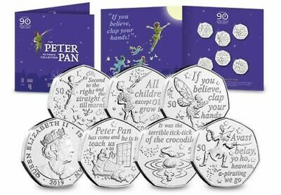 Peter Pan 2019 50P Collection Coins  Brilliant Uncirculated Sealed All 6 Coins