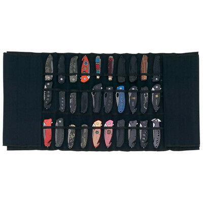 KNIFE DISPLAY CASE Padded Protective Nylon Roll Travel Storage Carry Holds 30
