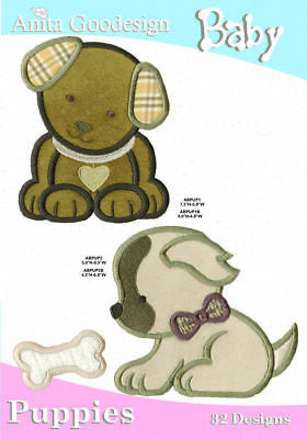 Anita Goodesign - Baby Puppies - Machine Embroidery Designs Usb