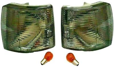 Vw T4 Transporter 1990-2003 Van Front Smoked Indicator Units Pair With Bulbs