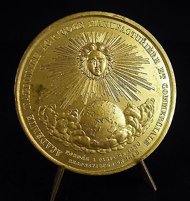 Medal Uniface 1850 Academy National Agricultural Gold to the Sheet Gold Medal