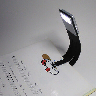 USB Rechargeable LED Book Light Flexible Night Reading Lamp Without Clip